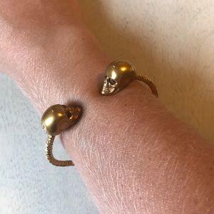 Alexander McQueen Twin Skull Bracelet with Box